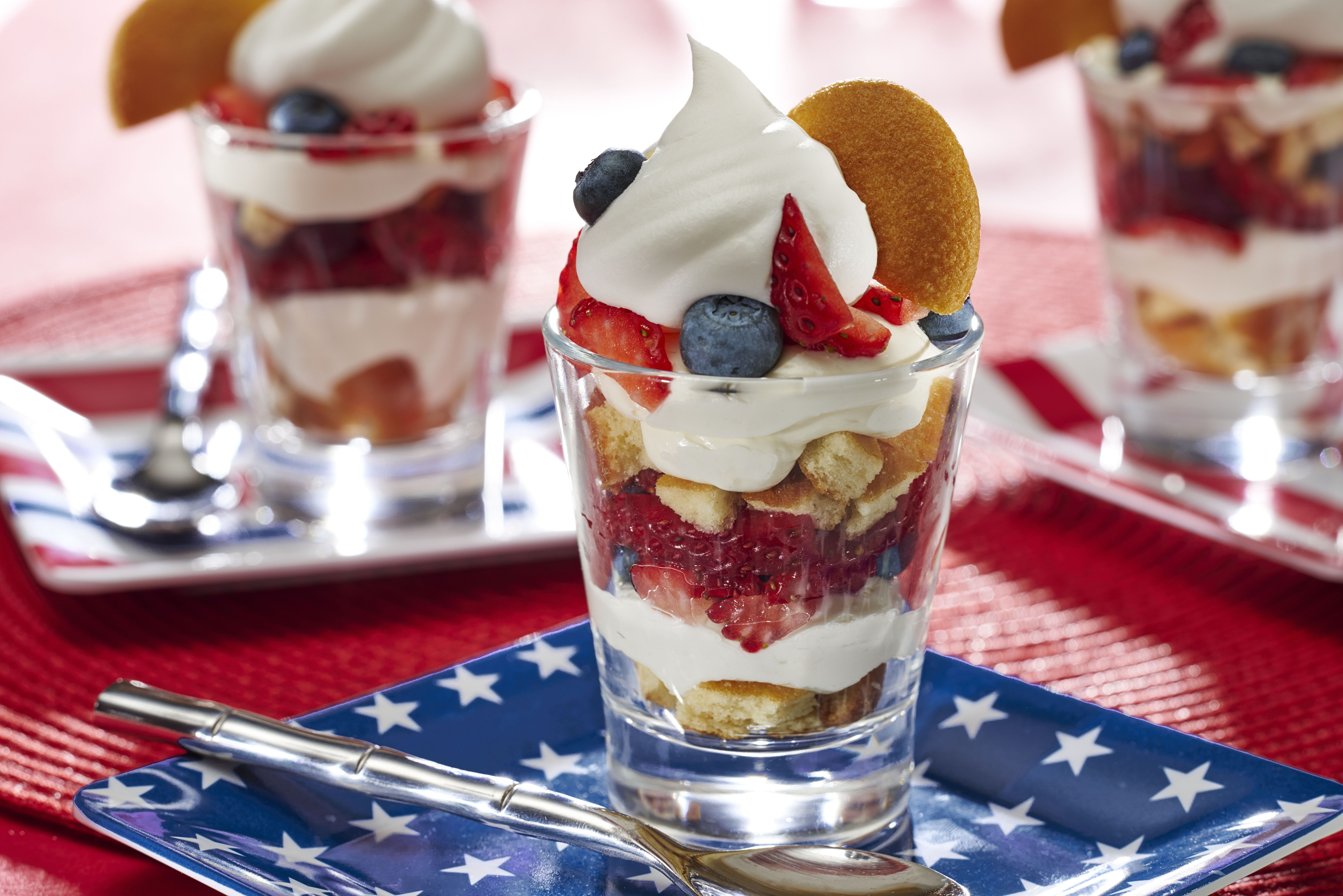 Give your staycation a shot of fun with these Red, White & Blue NILLA Cheesecake Shots.