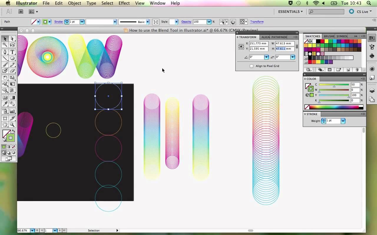 How To Use The Blend Tool In Adobe Illustrator