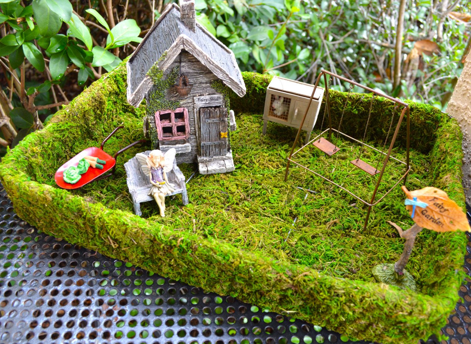 Moss Tray Planter Only ~ DIY ~ Build Your Own Miniature Garden ~ Fairy  Garden Mossy