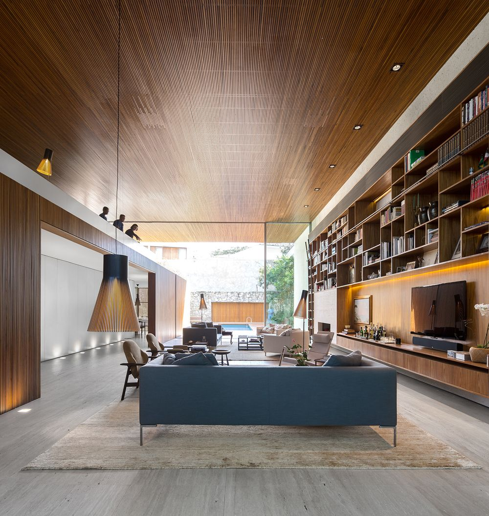 Open layout house concept by studio mk27 - A Neoteric Brazil L House By Studio Mk27