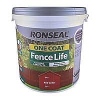 Ronseal One Coat Fence Life Red Cedar 9ltr Fence Paint Garden Fence Paint Fence