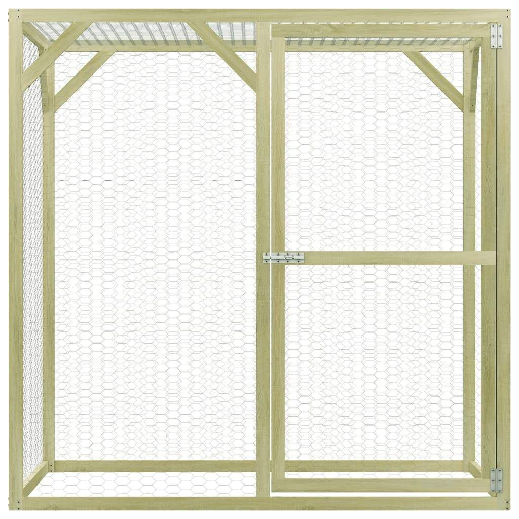 Chicken Cage 1.5×1.5×1.5 m Impregnated Pinewood