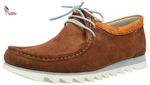 Grashopper-H-161-02 Velour/Textil, Mocassins (Loafers) Homme - Marron - Braun (Terracotta/Orange), 43 EUSioux