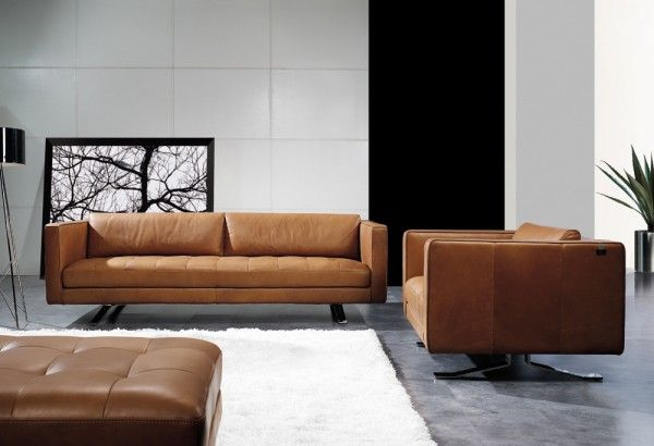 LEATHER-SOFA-SORANO-LOUNGE-SUITE-8508 | Leather sofa | Tan leather ...