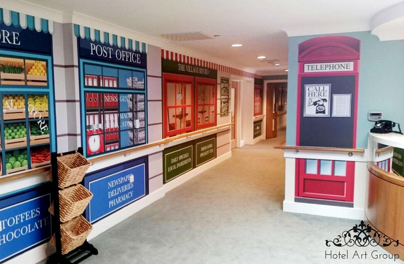 Best Our Historically Styled Shop Fronts And Telephone Box Wall 640 x 480