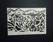 Breckenridge Peaks 9 and 10 - Doodles of the North Ski Area Series