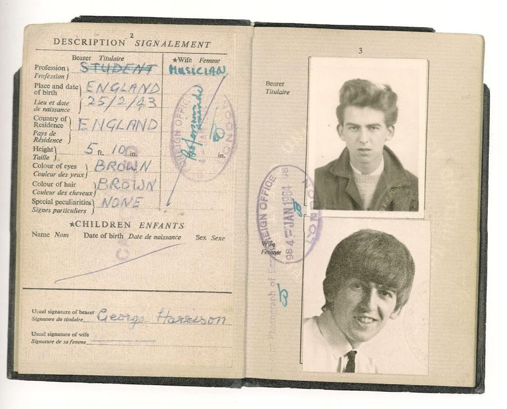 George Harrison Passport