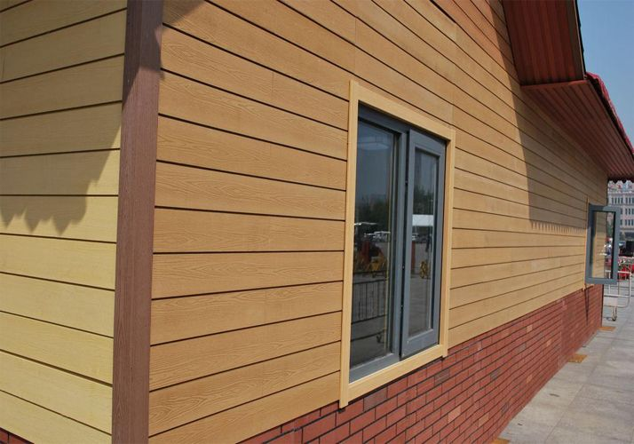 Exterior wall cladding wood plastic wall cladding in - Exterior plastic cladding for houses ...