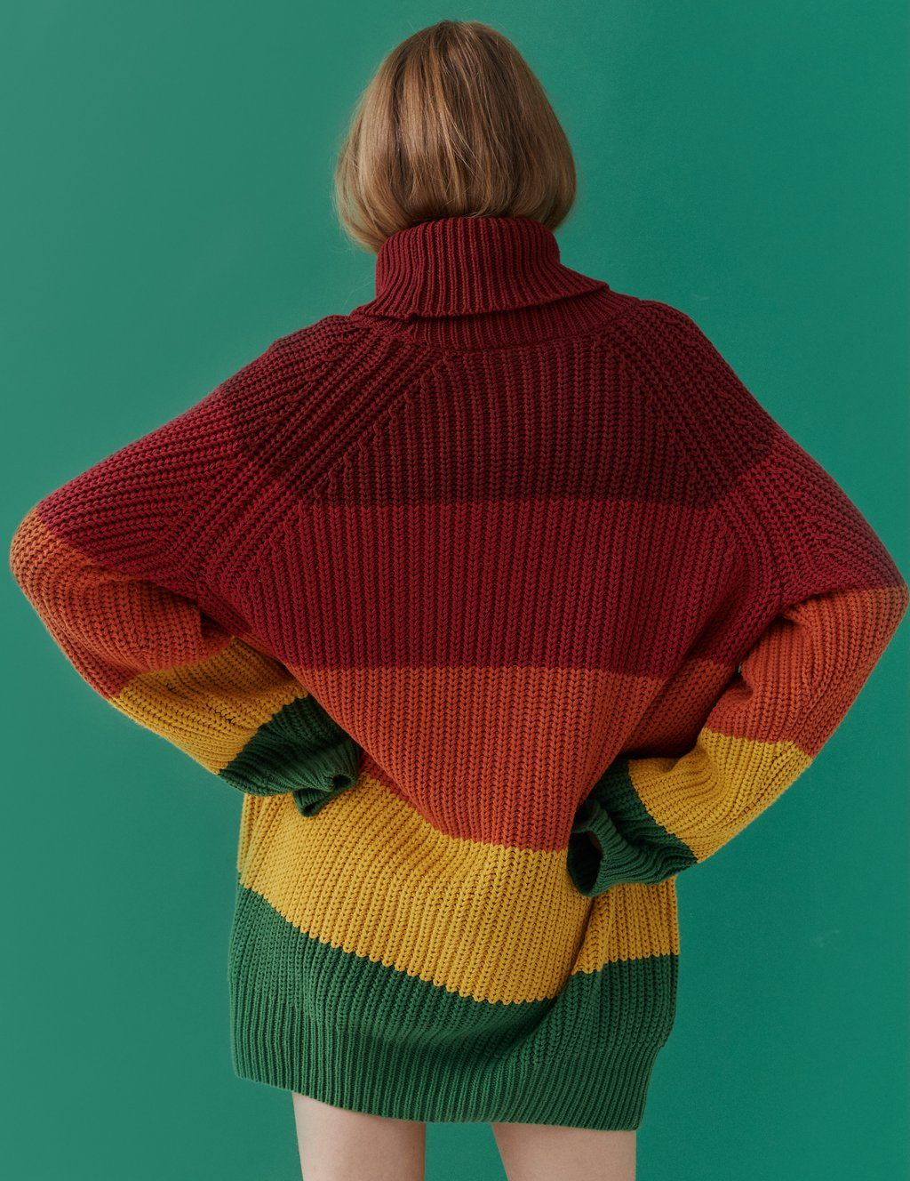 Lazy Oaf Autumn Rainbow Knitted Jumper Photography Jumper New