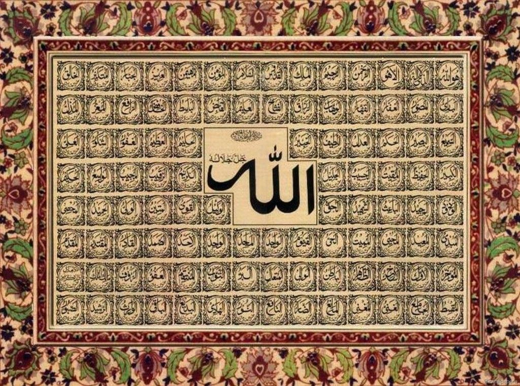 Sacred wallpapers beautiful allah name hd islamic Allah calligraphy wallpaper