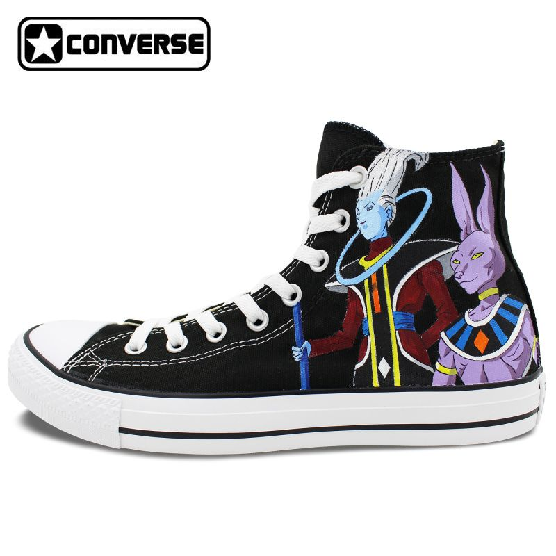9b57b79531 Men Women Converse All Star Anime Dragon Ball Beerus Whis Custom ...