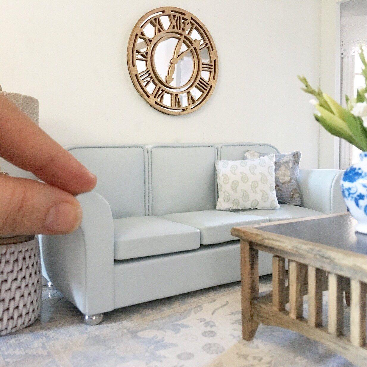 Mini Shade Fringed Floor Lamp Light Model 1:12 Dollhouse Living Room Furniture