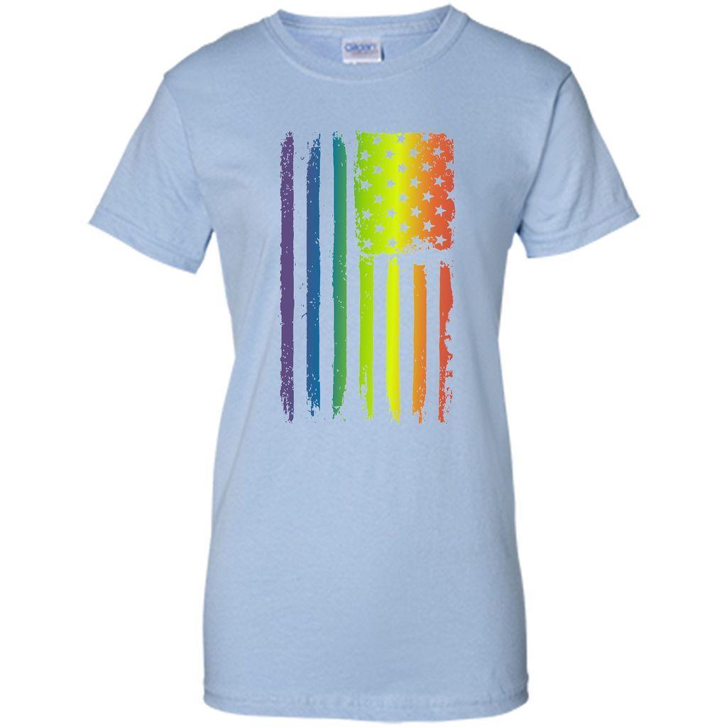 American Rainbow Flag Gay Pride T-Shirt