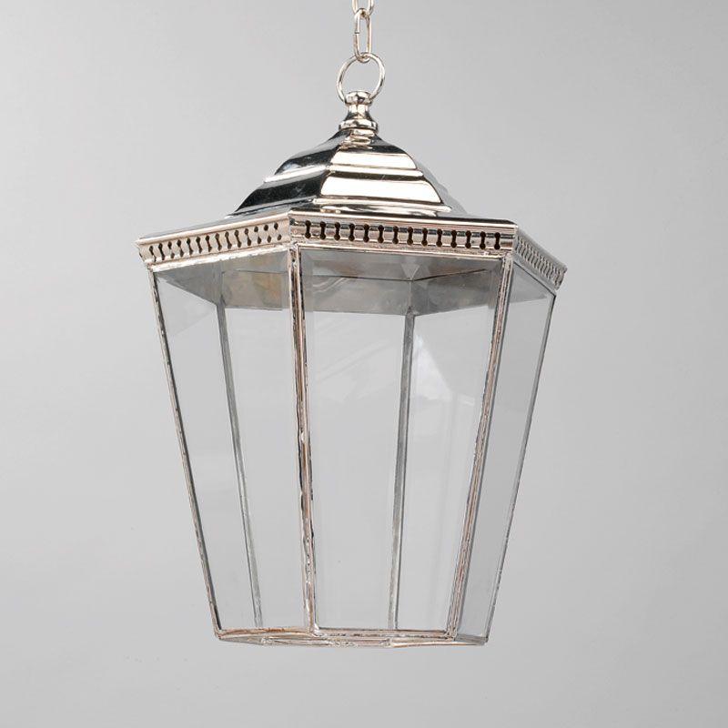 Vaughan lighting georgian porch lantern nickel large 1 light