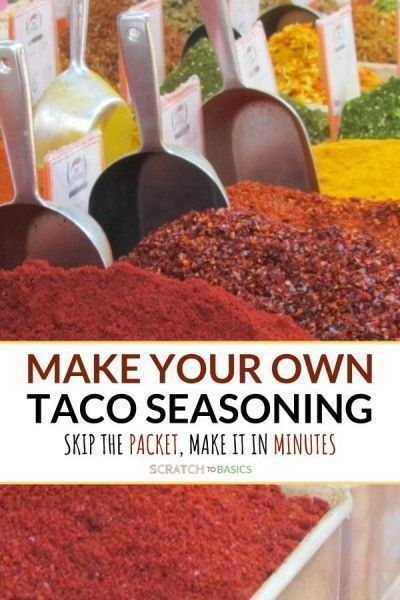 Homemade 3 Ingredient Taco Seasoning #tacoseasoningpacket Ditch the packets at the store and make this homemade taco seasoning with only three ingredients. Can you believe in 5 minutes you'll have a Mexican seasoning packet without going to the store? #scratchtobasics #tacoseasoning #homemadespicemix #tacoseasoningpacket Homemade 3 Ingredient Taco Seasoning #tacoseasoningpacket Ditch the packets at the store and make this homemade taco seasoning with only three ingredients. Can you believe in 5 #tacoseasoningpacket
