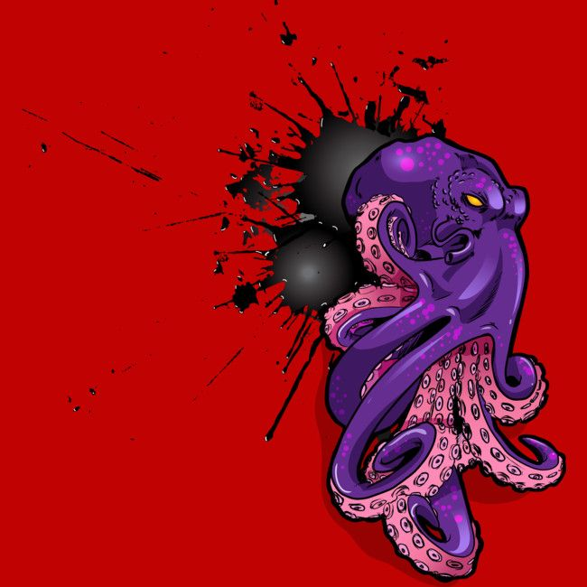 Octopus Ink Blast is a Tank Top designed by BaronPollak to illustrate your life and is available at Design By Humans