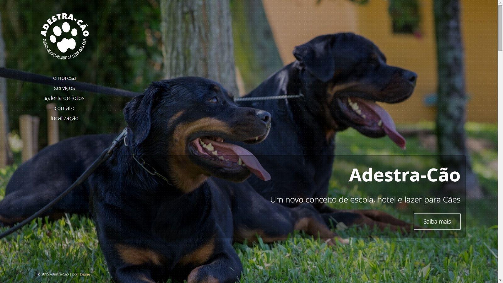 Site da Adestra-Cão. www.adestracao-rs.com.br