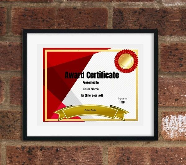 certificate template School Awards Pinterest Certificate and - online certificate template