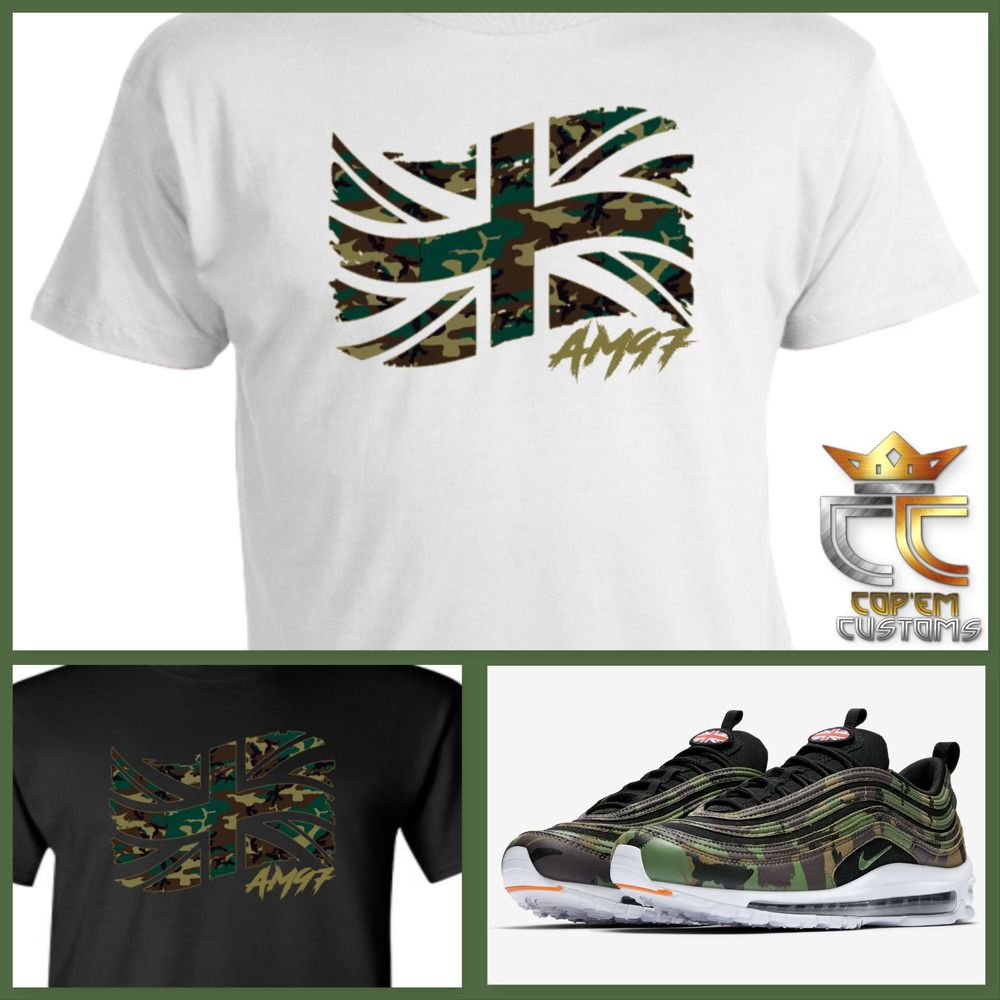 sale retailer eb4fe e1f81 EXCLUSIVE TEE T-SHIRT to match NIKE AIR MAX 97 COUNTRY CAMO PACK UK   COPEMCUSTOMS  GraphicTee