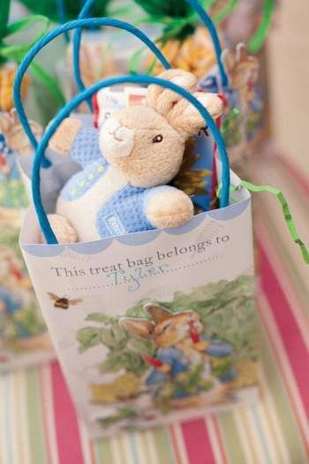 beatrix potter peter rabbit first birthday party bunny favor bags