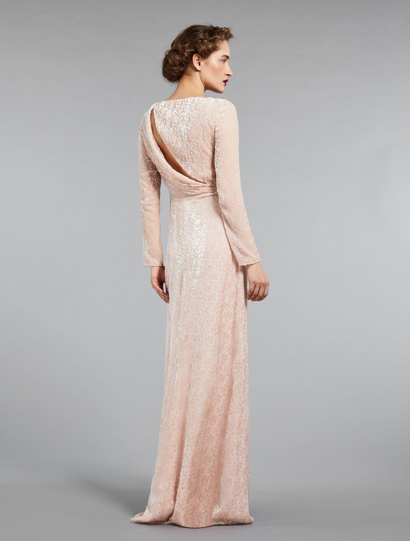 Devore Velvet Dress Powder Mina Max Mara Dresses Velvet Wedding Dress Velvet Dress [ 1800 x 1366 Pixel ]