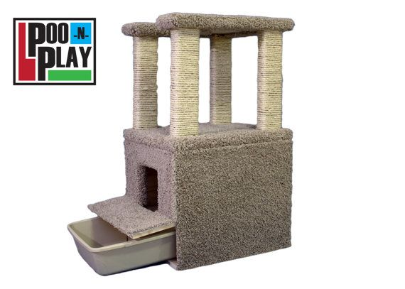 Cat Tower And Litter Box Combo By Citycat1116 On Etsy 275 00