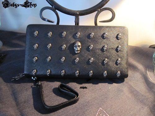 Gothic Hand-/Geldbörse Vintage Style Dead head rivets