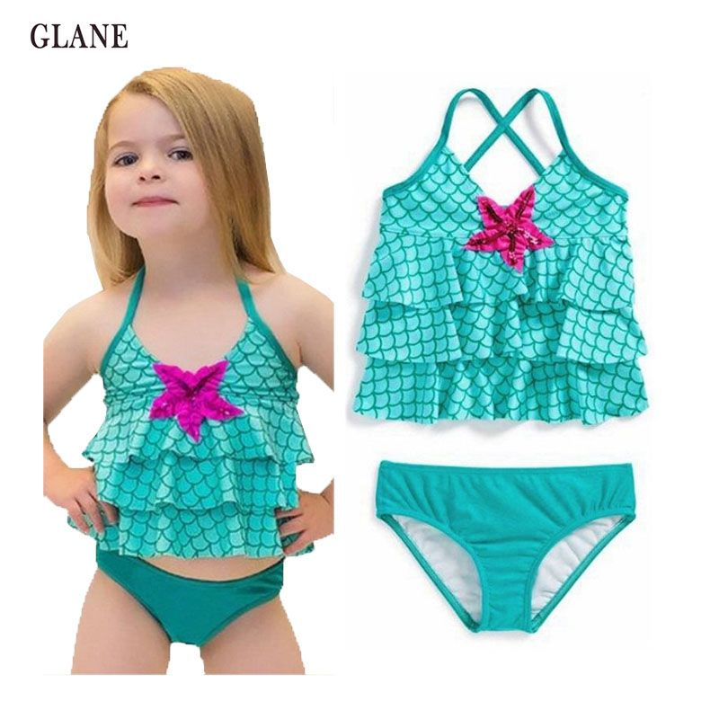2-7years children swimwear girls swimwear baby kids biquini infantil ...