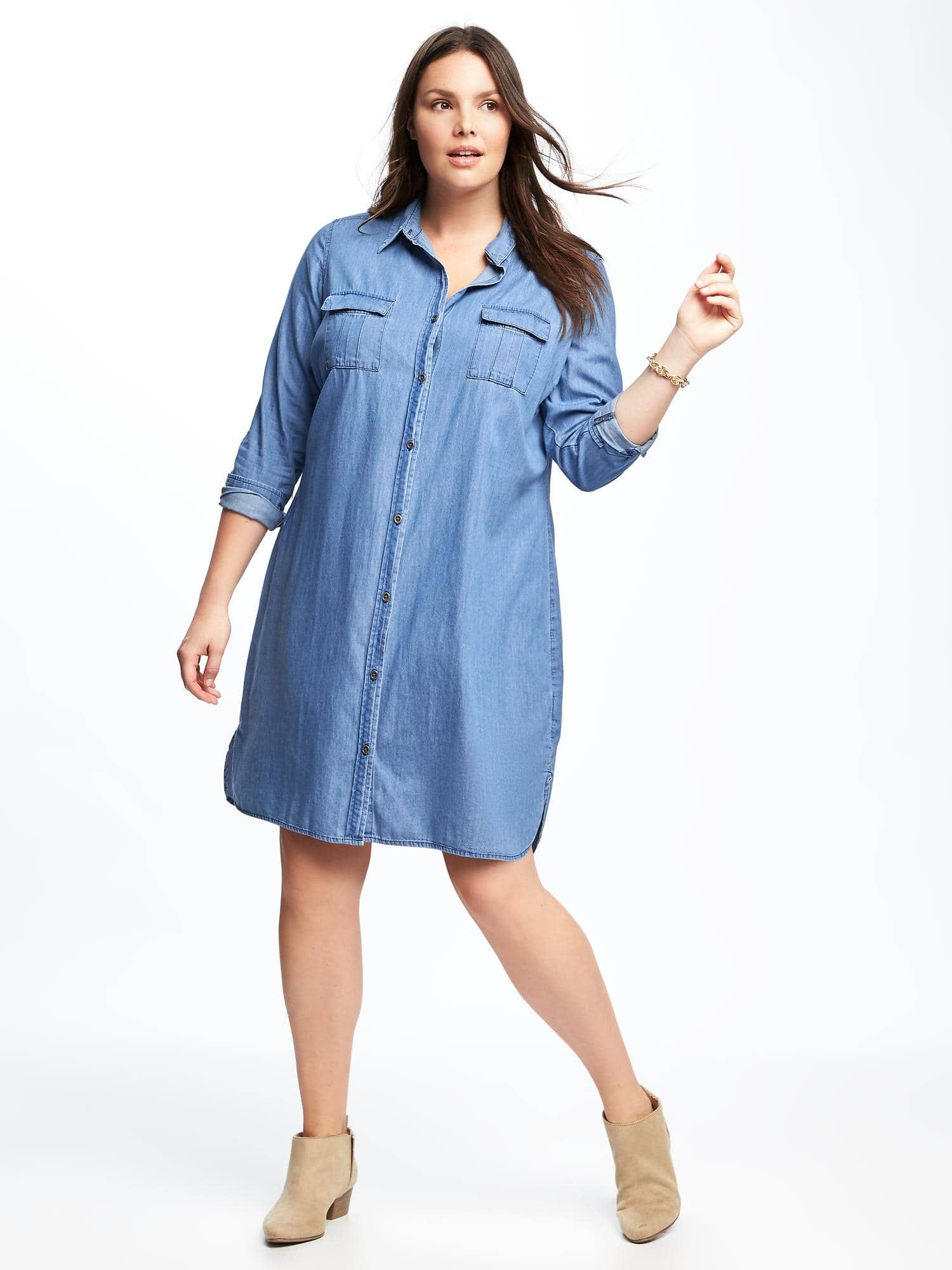 Plus-Size Chambray Shirt Dress from Old Navy | Style in 2019 ...