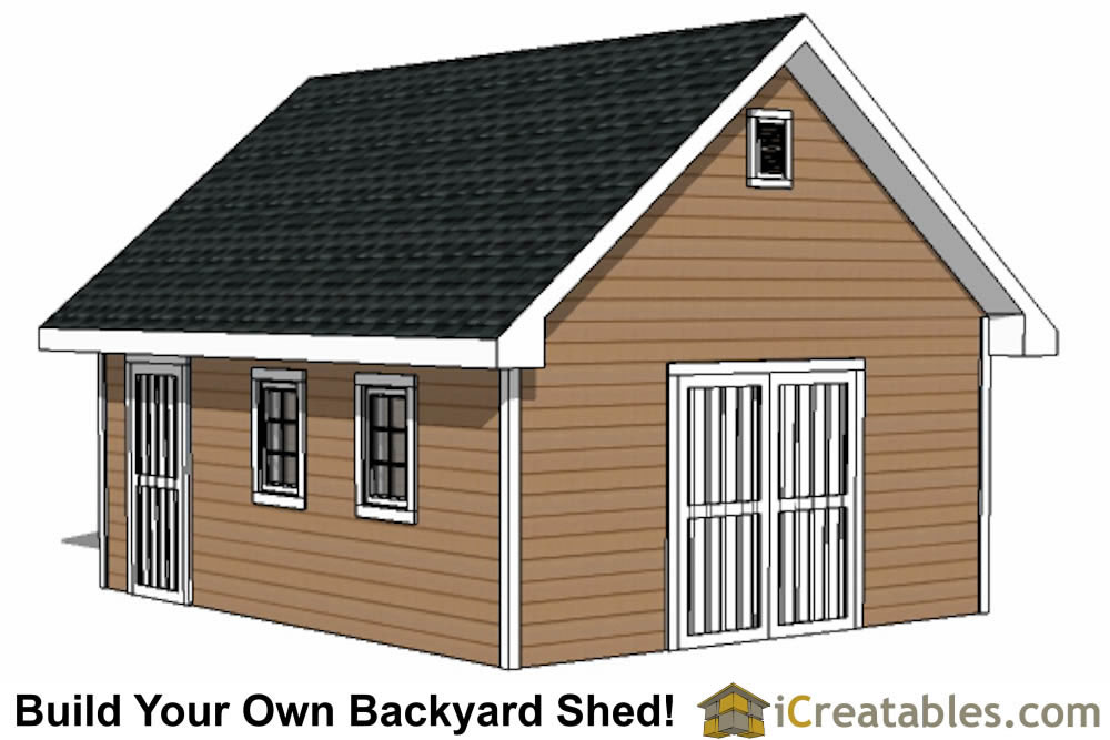 16x20 Traditional Shed Plans | Build Your Own Large Shed ...