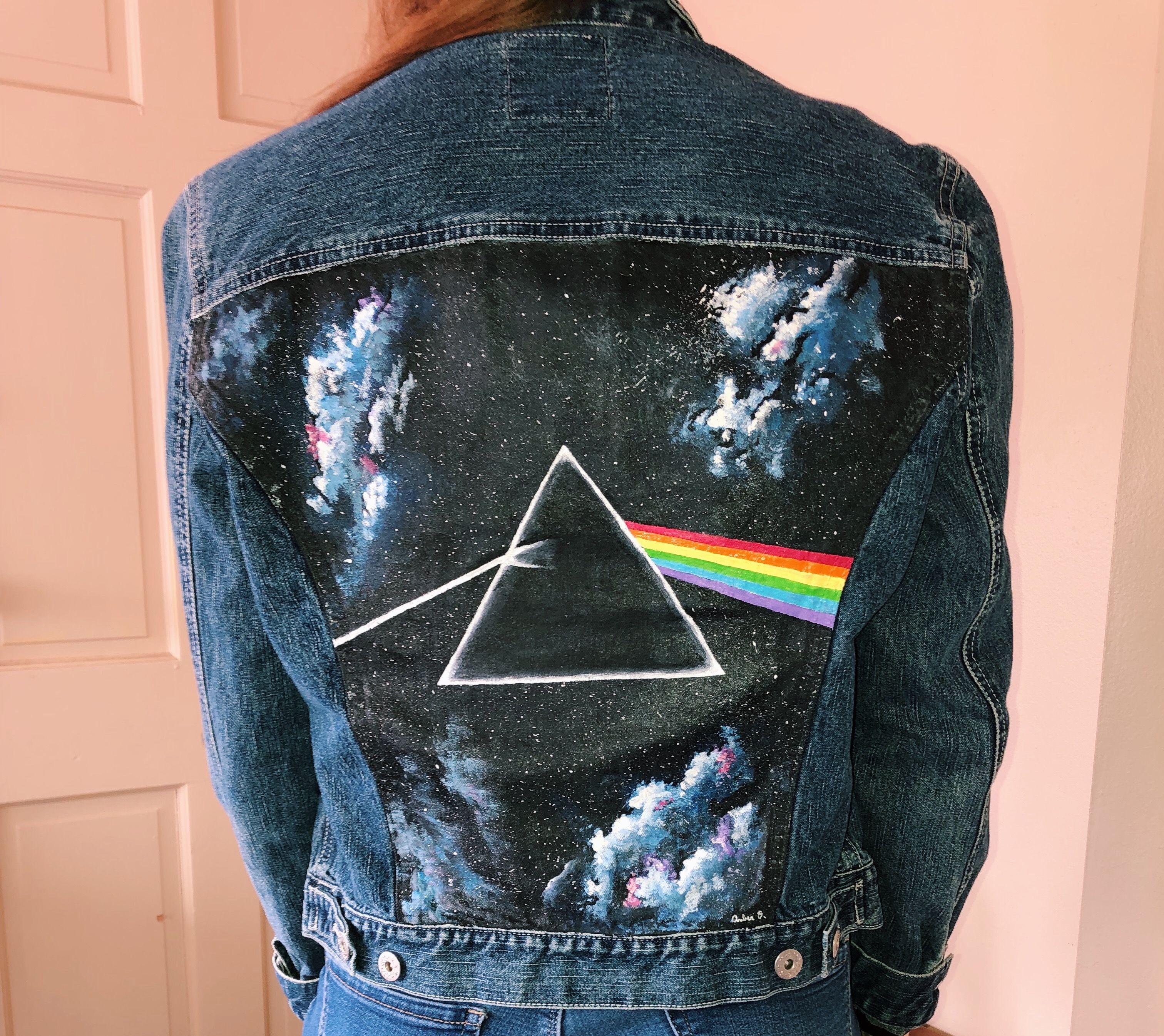 Pink Floyd Painted Denim Jacket Diy Denim Jacket Diy Jacket Painted Denim Jacket [ 2691 x 3024 Pixel ]