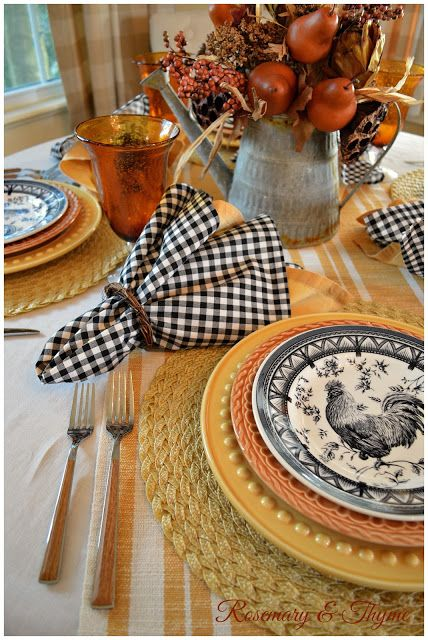 Classic French Country table setting decor ideas for fall & french inspired autumn decor ideas | Country table settings French ...