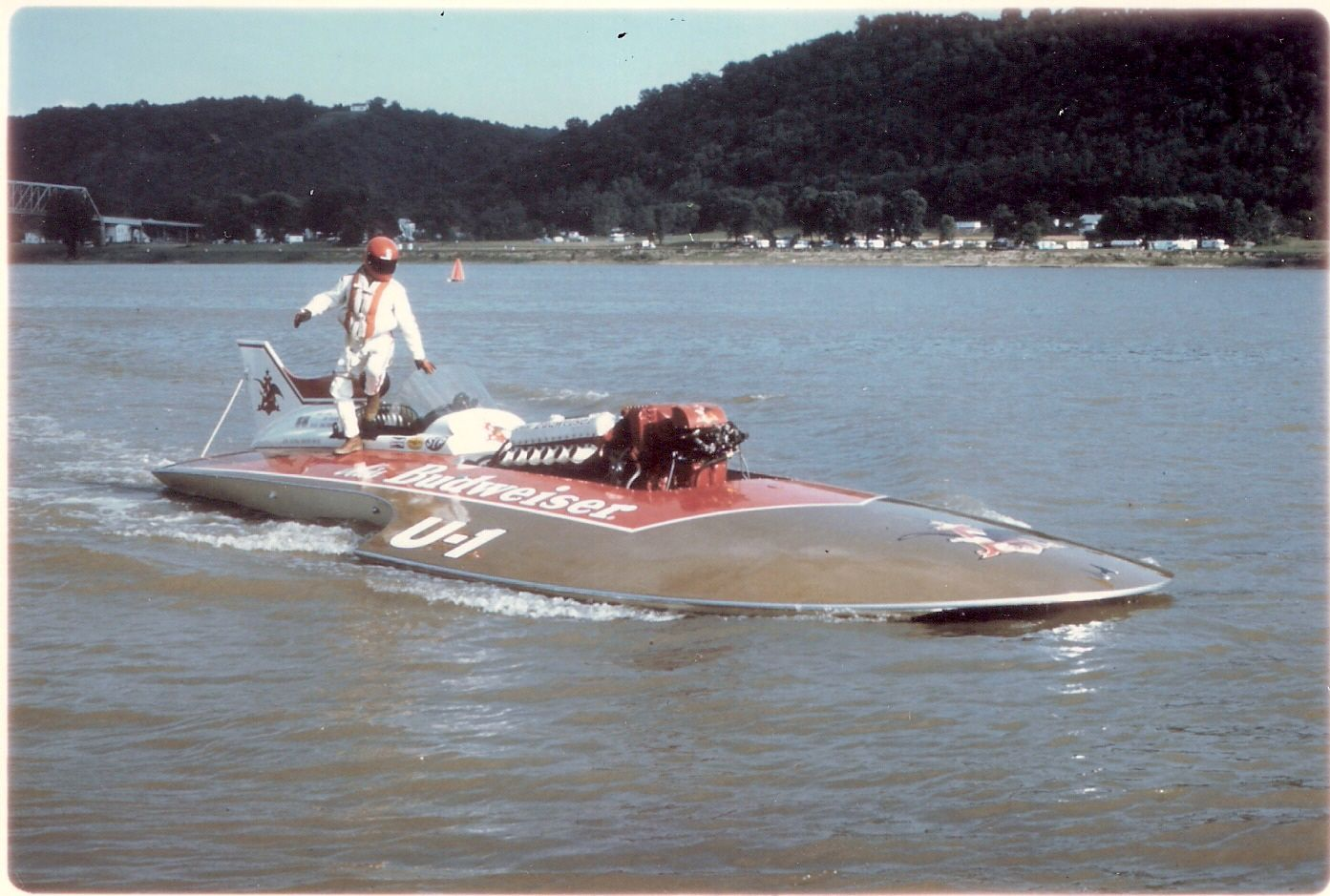 196870 Miss Budweiser Hydroplane racing, Boat, Boat race
