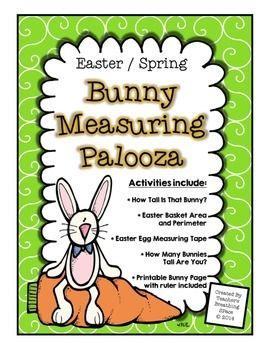 easter spring measuring bunny measuring palooza math centers math confetti pinterest. Black Bedroom Furniture Sets. Home Design Ideas
