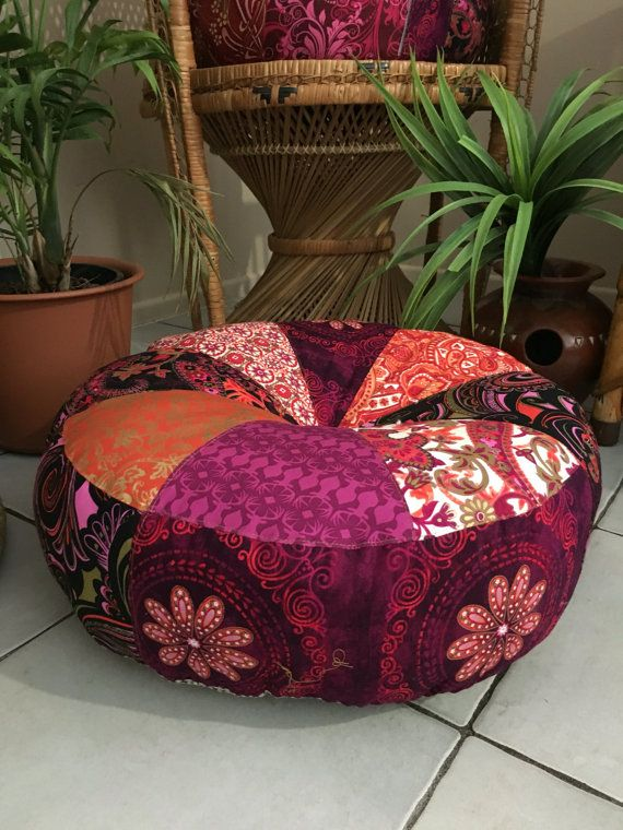 Unfilled 18 Inch Diameter Bohemian Rhapsody Pouffe Cover, Made in ...