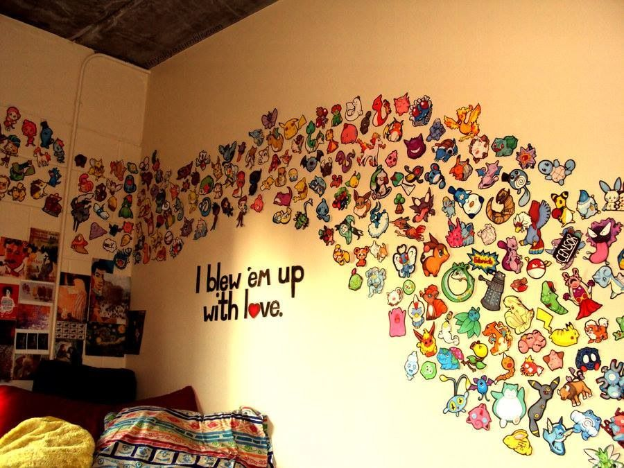 Pokemon wall art- I don\'t like Pokemon but this would be a great ...