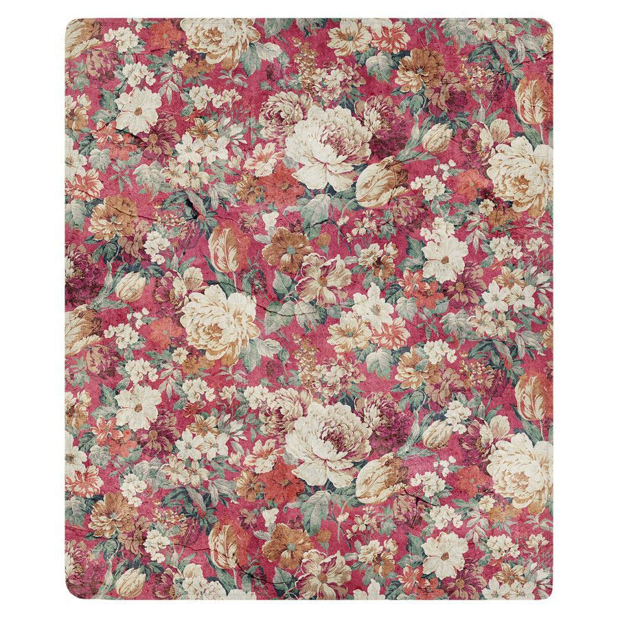 Red flowers fleece throw fleece throw red flowers and products