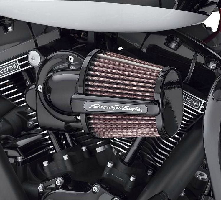 Harley Davidson Screamin Eagle Heavy Breather Elite Performance Air Cleaner Kit Gloss Black 29400285 Harley Davidson Gloss Black Air Cleaner