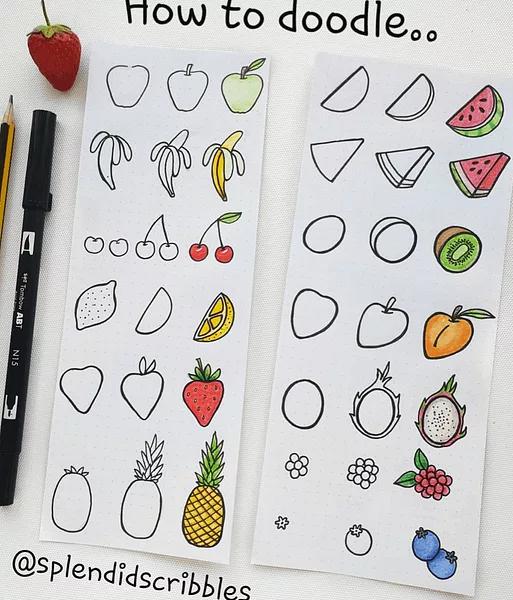 25 Bullet Journal Drawings & Doodles