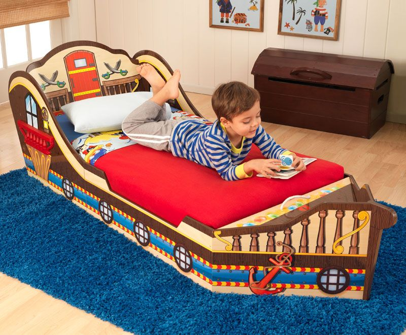 KidKraft Boat Toddler Bed Wayfair Cool toddler beds