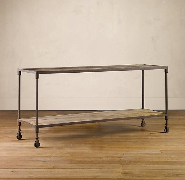 Dutch Industrial Console Tables - I know he wanted less rustic but ...