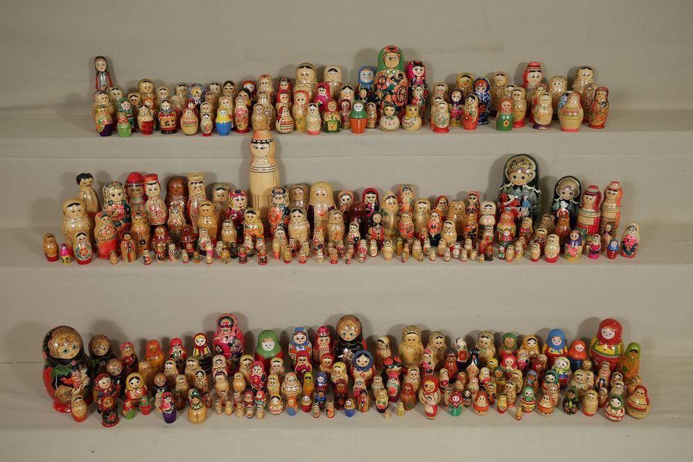 über 300 alte Matroschkas gesammelte Werke UDSSR DDR Holz Babuschka #7174