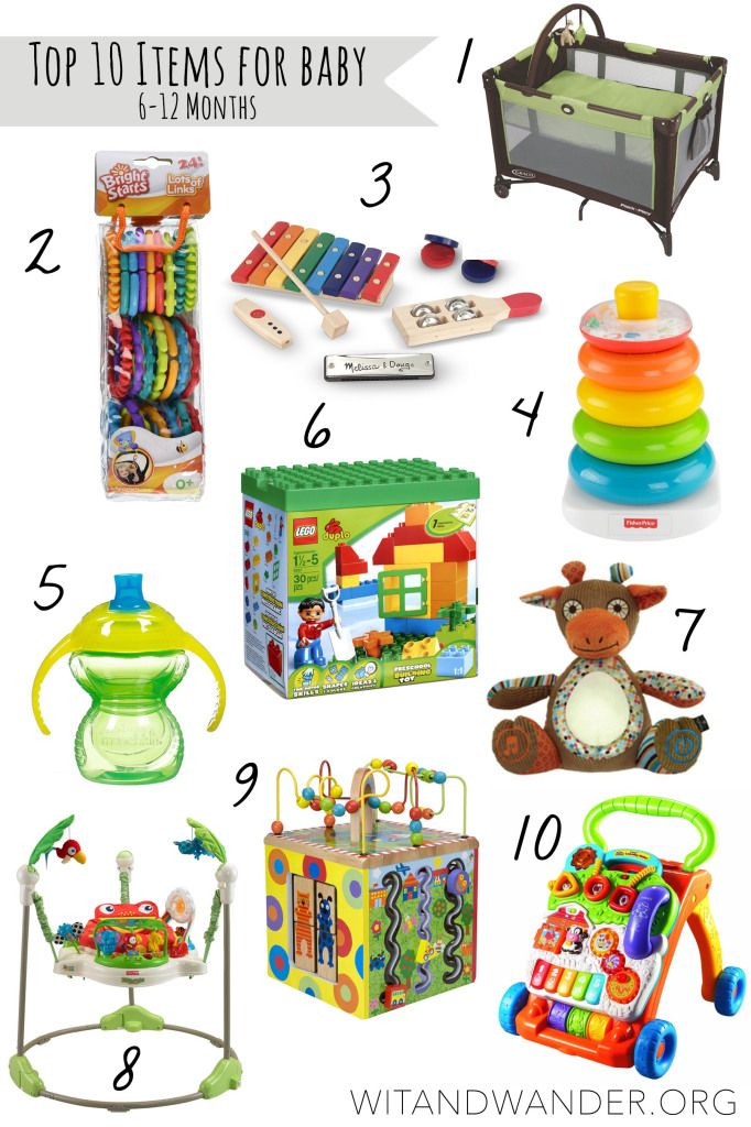 top 10 items for babies 6 12 months old wit wander