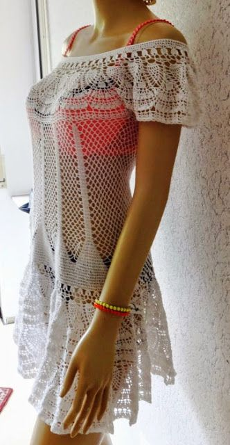 Patrones de vestidos a crochet para mujer