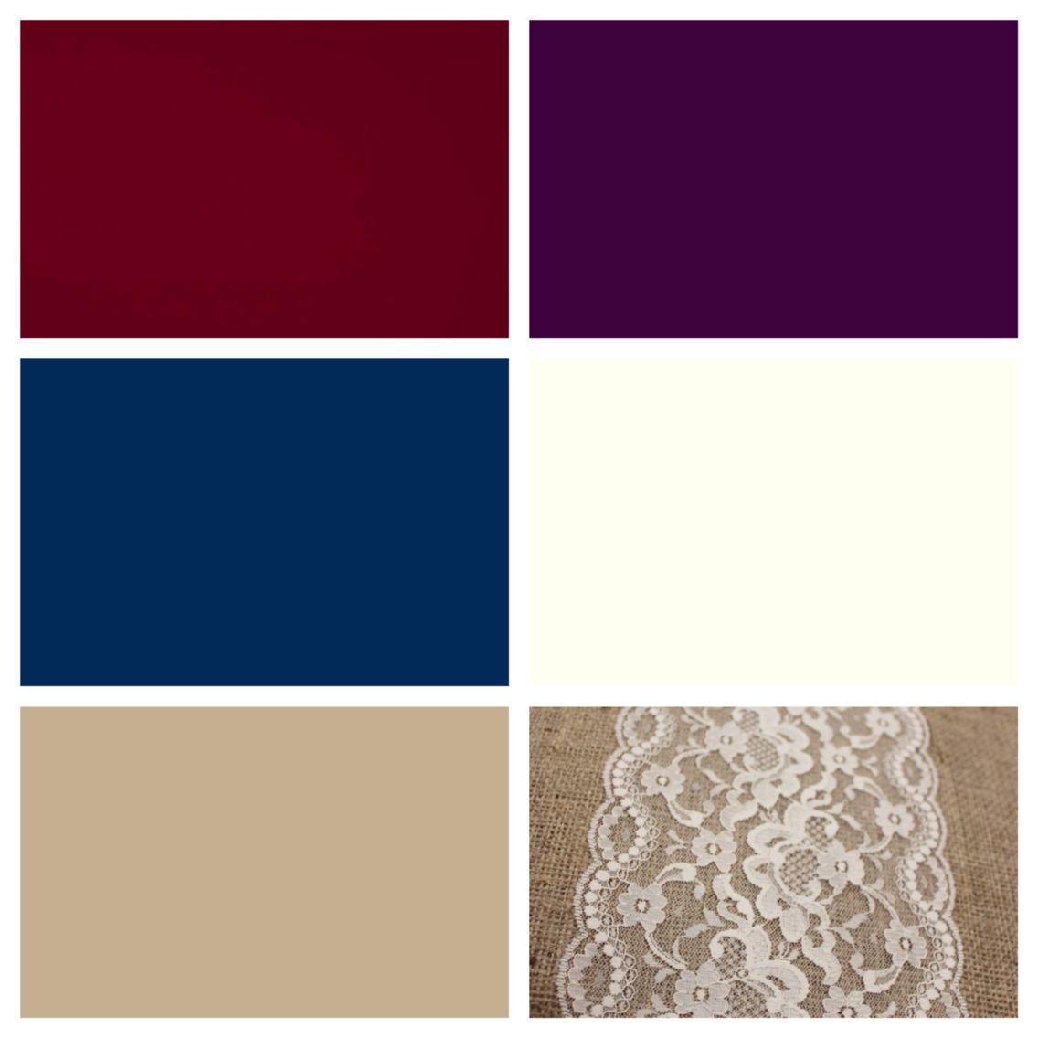 Wedding Color Scheme Burgundy Plum Navy Ivory And Khaki With