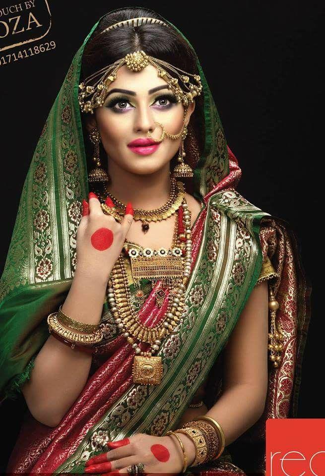 Nusraat Faria Mazhar Indian bridal hairstyles, Bengali