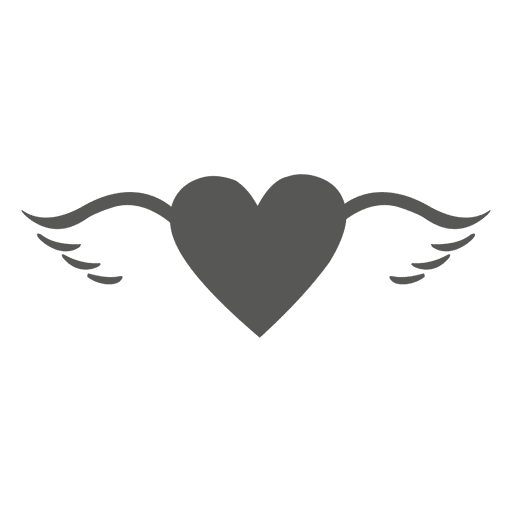 Heart With Wings Silhouette Ad Paid Sponsored Silhouette Wings Heart Heart With Wings Wings Png Pattern Drawing