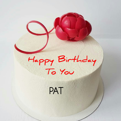 Vanilla Flavor Birthday Cake With Red Rose For Love Nice