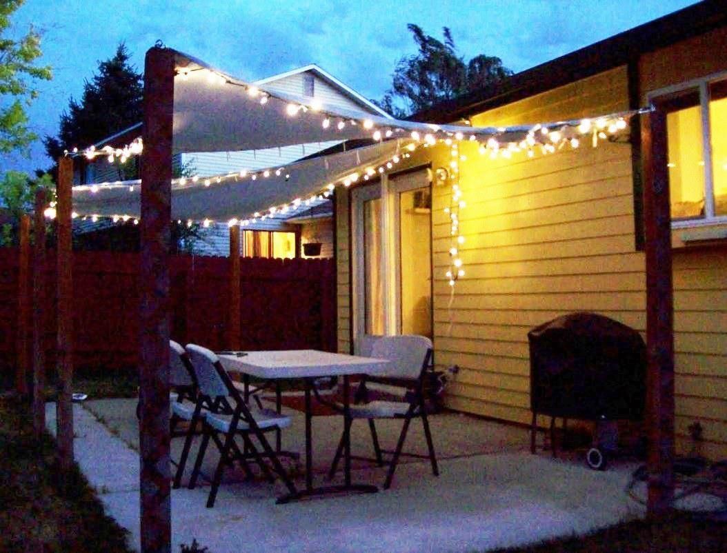 inexpensive ideas lights for pin side shade of patio string image with