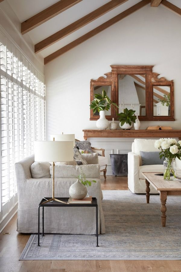 Get the Look: French Country Family Room - Hello Lovely